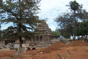 The Shore Temple at Mahabilipuram.