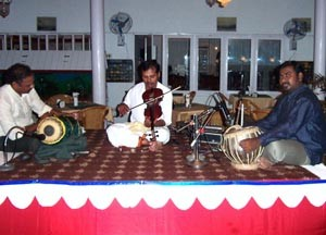 Traditional Carnatic music is still performed today.