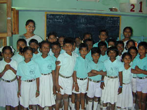 A private primary school in K.V.Kuppam