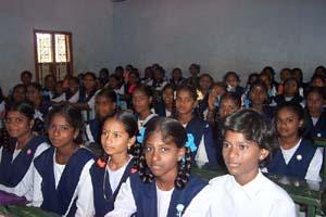 A class of children