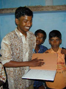 Suresh with his studies