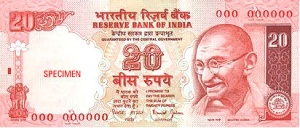 The 20 Rupee note