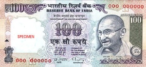 The 100 Rupee note