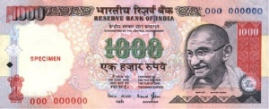 The 1000 Rupee note