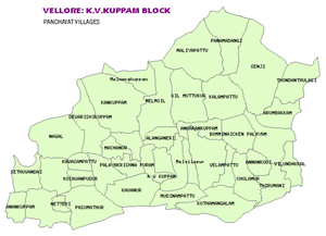 Panchayat villages in KV Kuppam Block