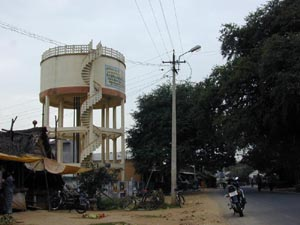 The village water tower