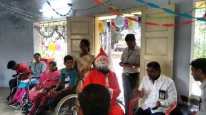 Santa Suresh at the Christmas party