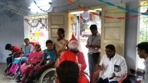 Santa Suresh at the Christmas party