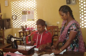 Suresh with the tailoring teacher