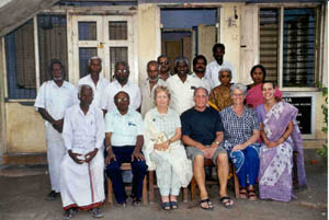 Meeting with the head of RUHSA and village leaders in 2003.
