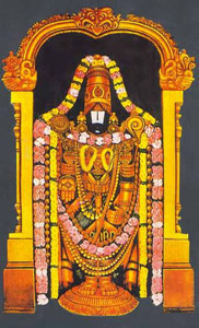Vishnu in the form of Lord Venkateshwara or Lord Balaji.