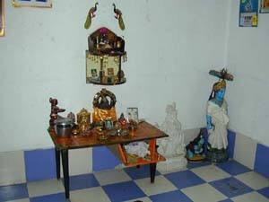 Some wealthy families set aside a whole room for their household shrine.
