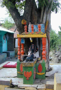 A village shrine to Lord Ganesha.