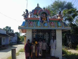 A newly renovated temple in the village of Tutithangel.