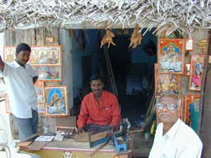 Picture framing is just one of many small businesses in K.V.Kuppam.
