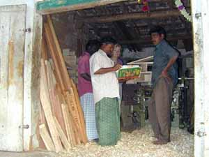 The local carpenter can make anything from furniture to coffins.