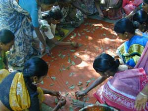 The Rural Unit for Health and Social Affairs runs training days for Self Help Groups.