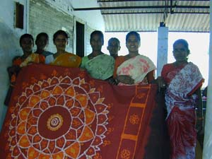 This group specialise in making beautiful batik hangings like this one.