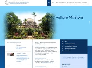 Front page of Missions Website
